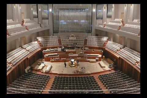 The 2398-seat opera house is one of three huge auditoriums